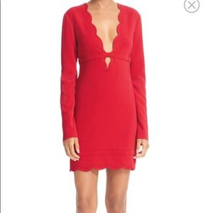 Red dress designer ALC FROM Norstrom's